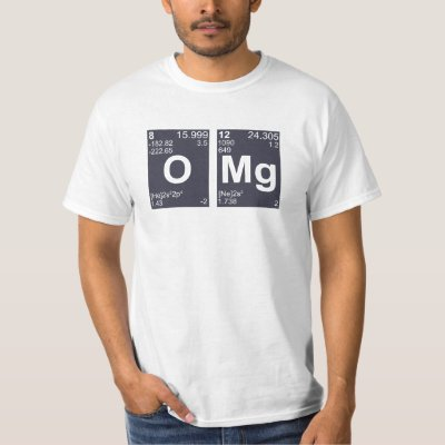 Omg oh my god periodic table elements t shirt zazzle urtaz Image collections