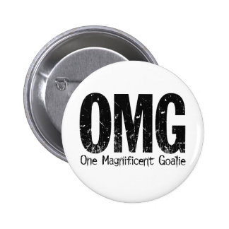 OMG: One Magnificent Goalie (Hockey) 2 Inch Round Button