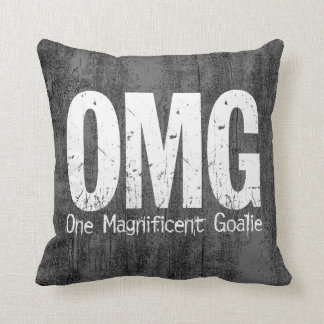 OMG: One Magnificent Goalie (Hockey) Throw Pillow