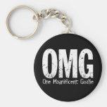 OMG: One Magnificent Goalie Basic Round Button Keychain