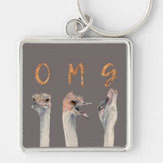 OMG Ostriches Keychain