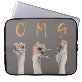 OMG Ostriches Laptop Sleeve