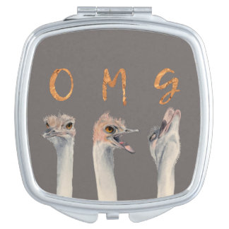OMG Ostriches Mirrors For Makeup
