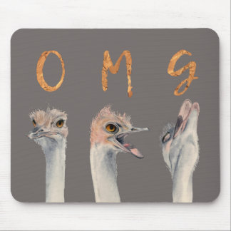 OMG Ostriches Mouse Pad
