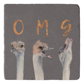 OMG Ostriches Trivet
