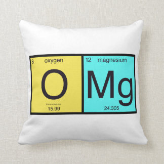 OMG Periodic Table pillow