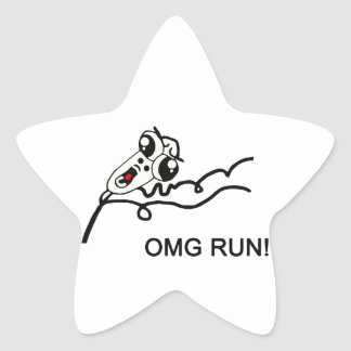 OMG run! - meme Star Sticker