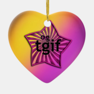 OMG! tgif Ceramic Ornament
