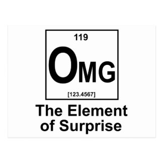 OMG The Element os Surprise Postcard