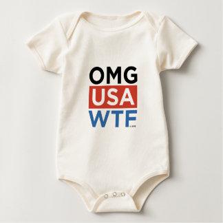 OMG USA WTF BABY BODYSUIT