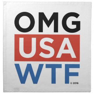 OMG USA WTF CLOTH NAPKINS