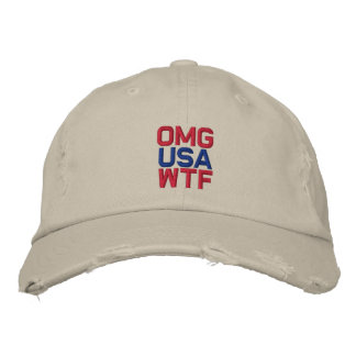 OMG USA WTF EMBROIDERED HATS