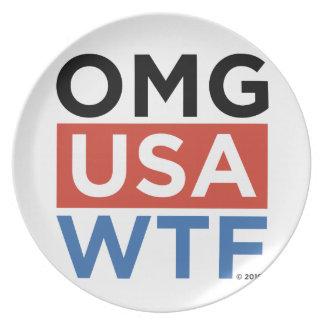 OMG USA WTF PLATE