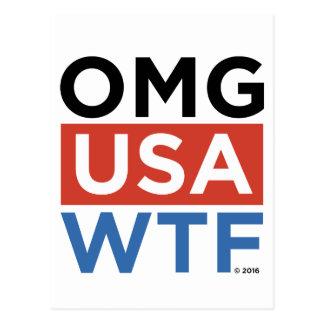 OMG USA WTF POSTCARD