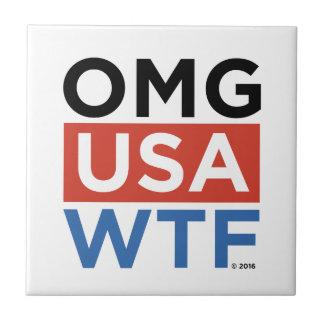 OMG USA WTF TILE