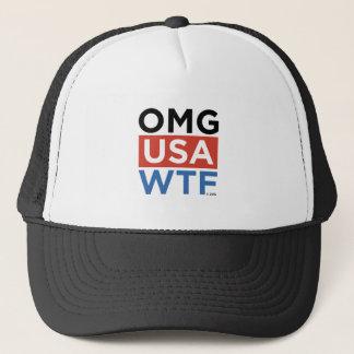 OMG USA WTF TRUCKER HAT