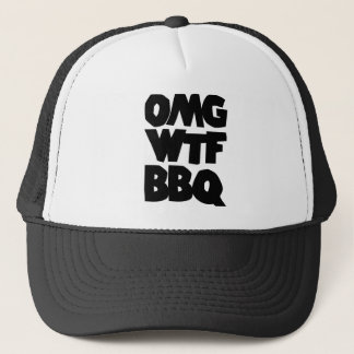 OMG WTF BBQ Barbeque Trucker Hat