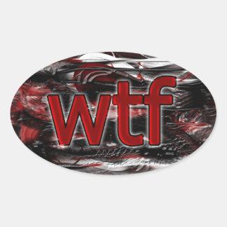 OMG! wtf Oval Sticker