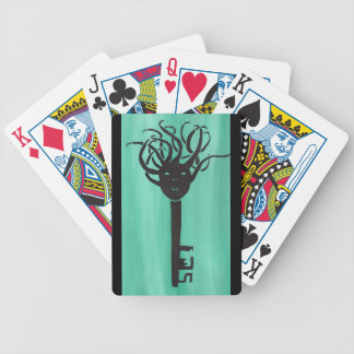 Ominous Key Bicycle Playing Cards