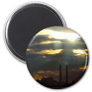 Ominous Power Plant 2 Inch Round Magnet