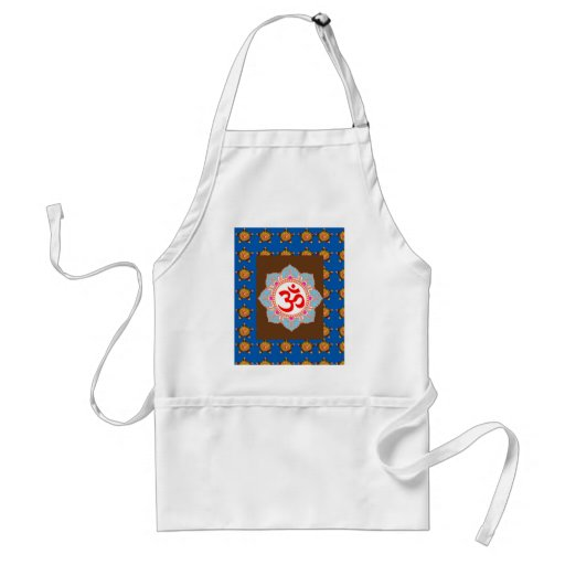 OmMANTRA Mantra Art Temple Hinduism Buddhism Bless Aprons