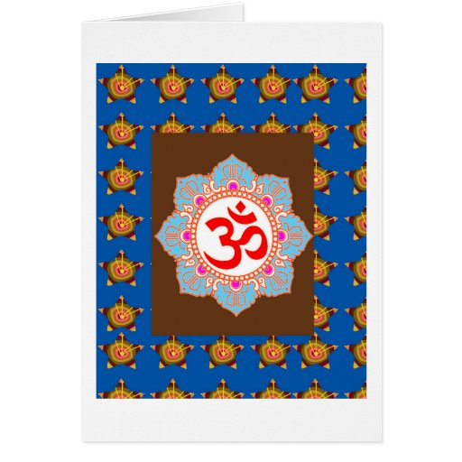 OmMANTRA Mantra Art Temple Hinduism Buddhism Bless Greeting Cards