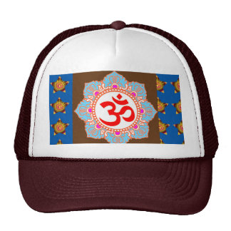 OmMANTRA Mantra Art Temple Hinduism Buddhism Bless Trucker Hat