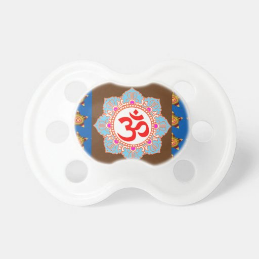 OmMANTRA Mantra Art Temple Hinduism Buddhism Bless Pacifier