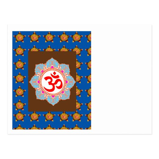 OmMANTRA Mantra Art Temple Hinduism Buddhism Bless Post Card
