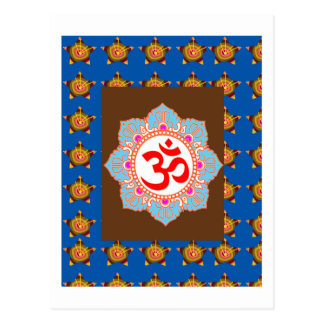 OmMANTRA Mantra Art Temple Hinduism Buddhism Bless Postcard