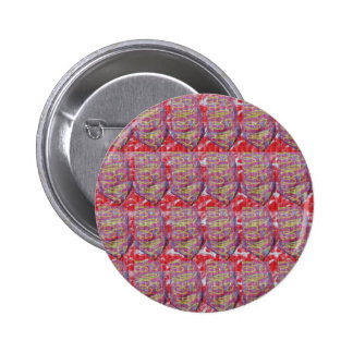 OMmantra mantra microart Ritual Ethnic Red Golden 2 Inch Round Button