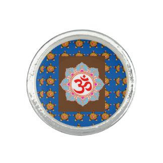 OMmantra Om Mantra Yoga Meditation Chant symbol Photo Rings