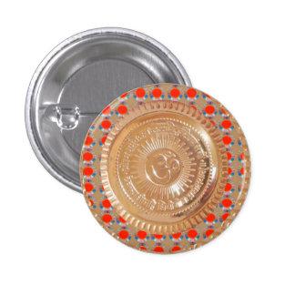 OMMANTRA OmMantra Gold emblem hinduism symbol fun 1 Inch Round Button