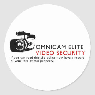 Omni-Cam Elite Round Sticker