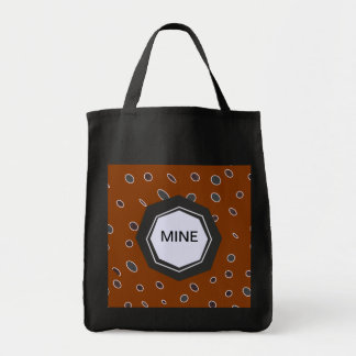 Omni dots manly brown burgundy pattern DOTS04 Tote Bag