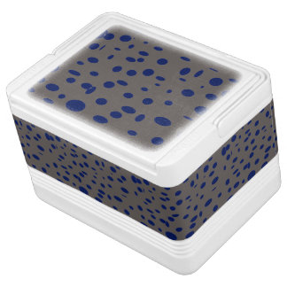 Omni taupe manly blue dots pattern DOTS09