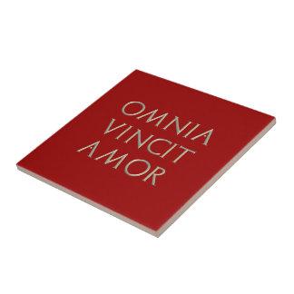 Omnia Vincit Amor Tile