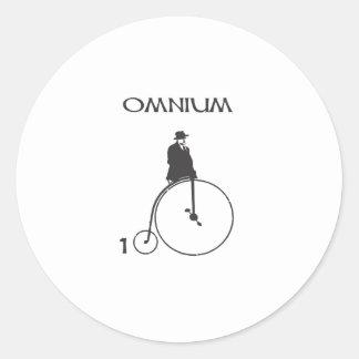 Omnium 100 classic round sticker