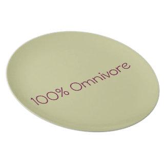 """""""Omnivorous """" punt/Plate Dinner Plate"""