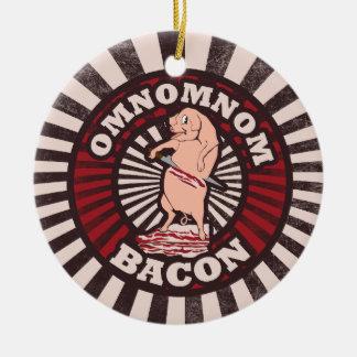 OMNOM Bacon Ceramic Ornament