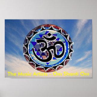 omsriyantrag, les artistes de musique - OM Shanti  Posters
