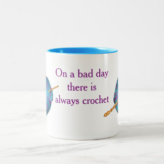 On a bad day there is always crochet Two-Tone coffee mug