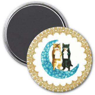 On a Blue Moon Framed in Gold Magnet