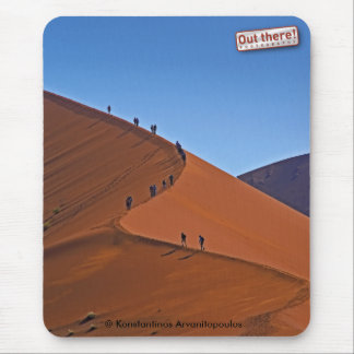 On a giant sand dune mouse pad