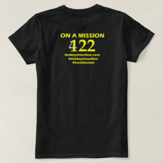 'On a Mission' T-shirt (blank) Yellow Lettering