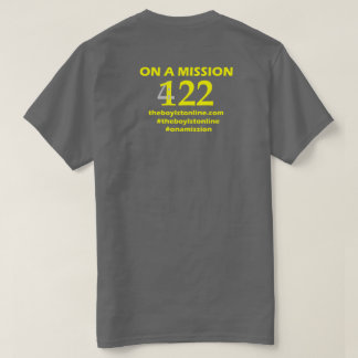 'On a Mission' T-shirt (grey) Yellow Lettering