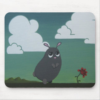 On a plain mouse pad