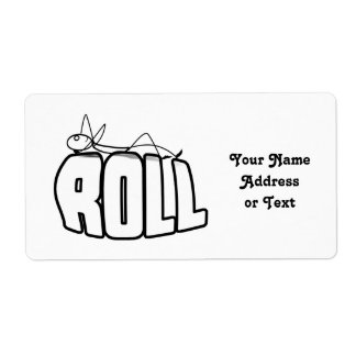 On a Roll Shipping Label