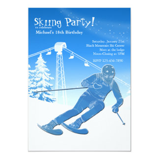 On A Run Skiing Invitation