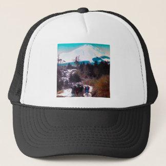 On a Winter Road Beneath Mount Fuji Vintage Japan Trucker Hat